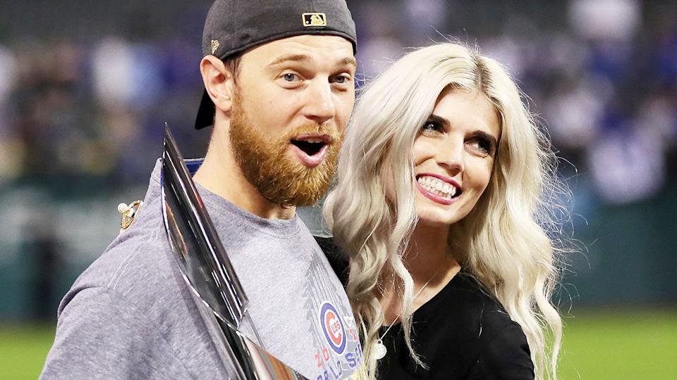 Ben Zobrist and ex-wife Julianna, pictured here celebrating after the 2016 World Series.