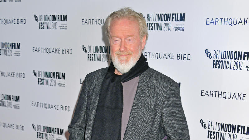 "Ridley Scott attends the world premiere of ""Earthquake Bird"" during the 63rd BFI London Film Festival on October 10, 2019. (Photo by David M. Benett/Dave Benett/WireImage)"