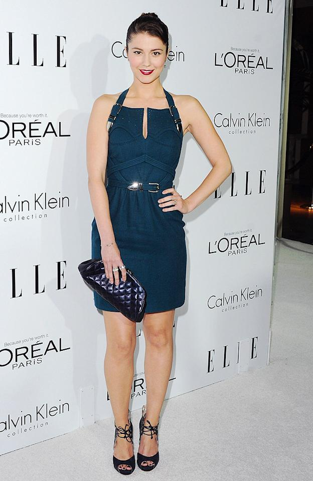 "<p class=""MsoNormal"">Our other favorite look from the Elle fete was sported by ""Smashed"" lead, Mary Elizabeth Winstead, who rocked this buckled Marios Schwab halter dress, along with red lipstick, a quilted Chanel bag, and Monique Lhuillier heels. (10/15/2012)<br> <br> <a href=""http://movies.yahoo.com/movie/smashed/"" target=""_blank"">Watch the trailer for ""Smashed""</a></p>"