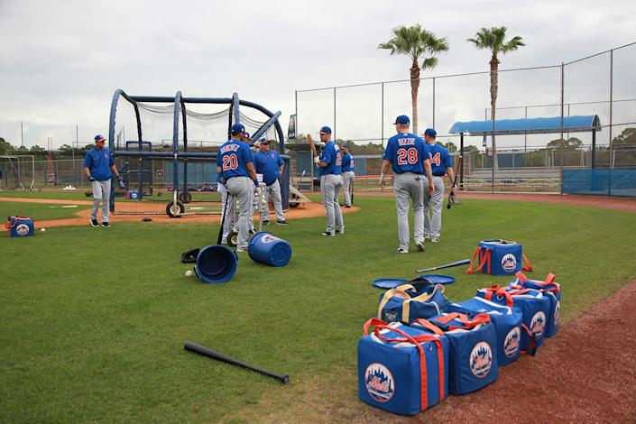<p>New York Mets prospects at the Mets spring training facility at First Data Field in Port St. Lucie, Fla., Tuesday, Feb. 28, 2017. (Gordon Donovan/Yahoo Sports) </p>