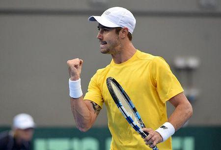 Aussie battler downs United States star in Davis Cup