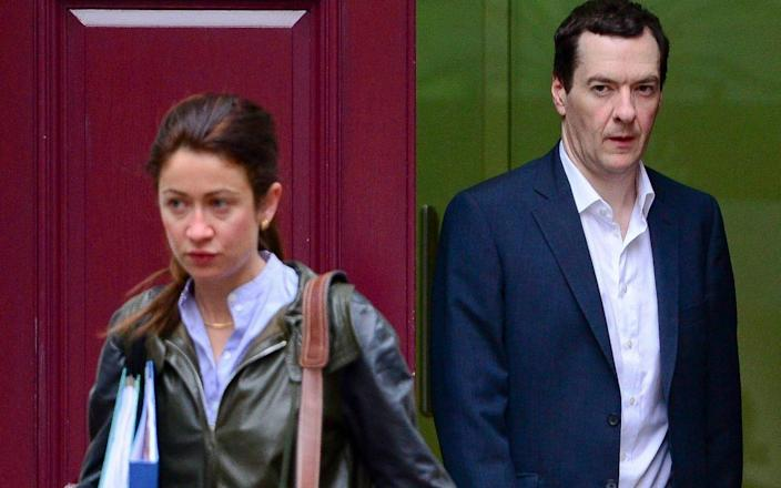 George Osborne and Thea Rogers, his former adviser and soon-to-be wife - Steve Back
