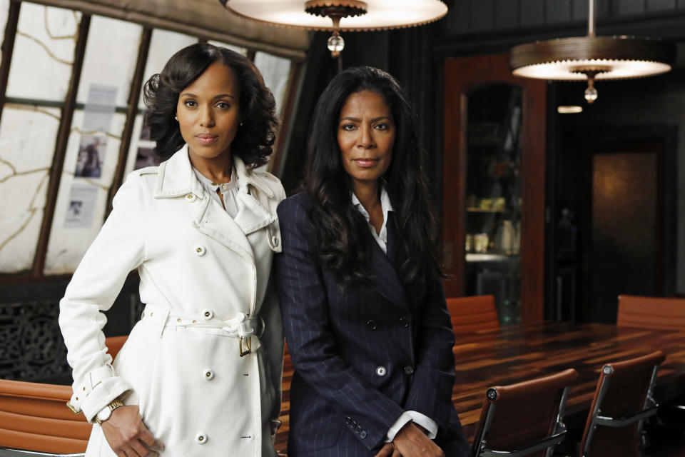 Kerry Washington, left, and Judy Smith