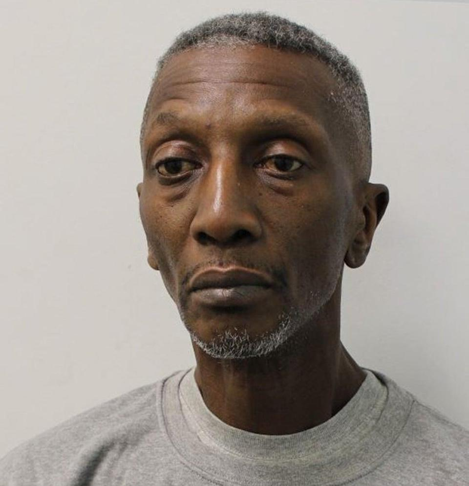Michael Jefferson King, 60, better known as Shadow from 1990s television show Gladiators, who has been jailed at Isleworth Crown Court (Metropolitan Police/PA) (PA Wire)