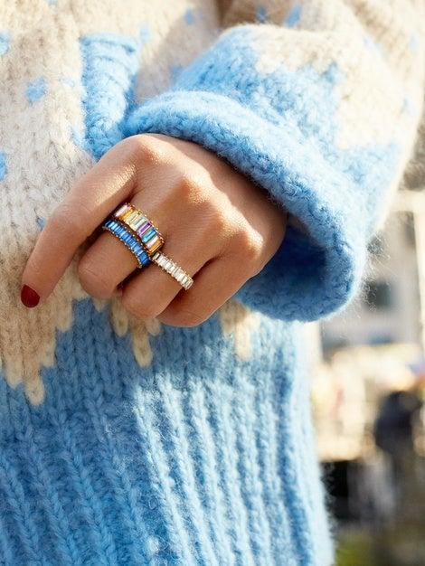 """<h3><a href=""""https://www.baublebar.com/product/44639-alidia-ring"""" rel=""""nofollow noopener"""" target=""""_blank"""" data-ylk=""""slk:BaubleBar Alidia Ring"""" class=""""link rapid-noclick-resp"""">BaubleBar Alidia Ring</a></h3><br>It wouldn't be a <a href=""""https://refinery29.com/en-us/most-wanted-products-march-2019"""" rel=""""nofollow noopener"""" target=""""_blank"""" data-ylk=""""slk:Most Wanted"""" class=""""link rapid-noclick-resp"""">Most Wanted</a> yearly wrap up without mentioning this viral rainbow ring from BaubleBar — <em>especially</em> when you can snag it on sale for $12. <br><br><strong>BaubleBar</strong> Alidia Ring, $, available at <a href=""""https://www.baublebar.com/product/44639-alidia-ring"""" rel=""""nofollow noopener"""" target=""""_blank"""" data-ylk=""""slk:BaubleBar"""" class=""""link rapid-noclick-resp"""">BaubleBar</a>"""