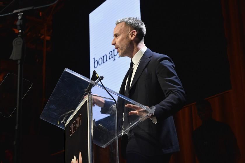 NEW YORK, NY - MARCH 14: Adam Rapoport speaks onstage during the Ellie Awards 2019 at Brooklyn Steel on March 14, 2019 in New York City. (Photo by Bryan Bedder/Getty Images for ASME)