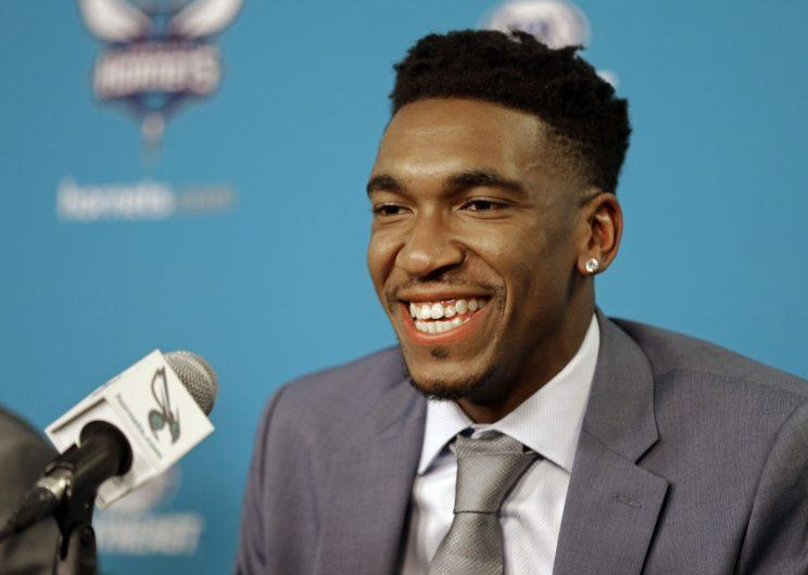 It's all fun and games until the owner calls you up to his office, Malik Monk. (AP)