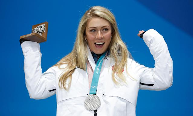 Mikaela Shiffrin added silver to her medal tally in the alpine combined.