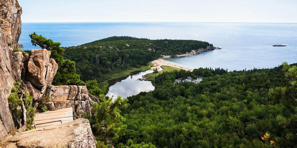 """<p>This pint-sized island, where the Astors and Rockefellers once summered, is home to some of Maine's most beautiful scenery. Hike beside rocky shorelines in 47,000-acre Acadia National Park, then treat yourself to a <a href=""""https://go.redirectingat.com?id=74968X1596630&url=https%3A%2F%2Fwww.tripadvisor.com%2FRestaurant_Review-g60709-d574503-Reviews-Stewman_s_Downtown_Lobster_Pound-Bar_Harbor_Mount_Desert_Island_Maine.html&sref=https%3A%2F%2Fwww.redbookmag.com%2Flife%2Fg36983737%2Fmost-beautiful-islands-in-the-world%2F"""" rel=""""nofollow noopener"""" target=""""_blank"""" data-ylk=""""slk:lobster roll"""" class=""""link rapid-noclick-resp"""">lobster roll</a> in the tiny town of Bar Harbor. </p>"""