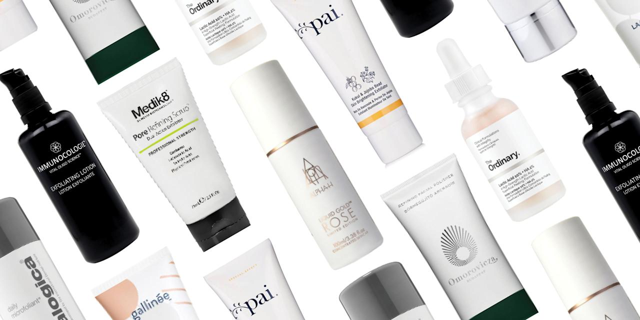 <p>Whether you choose a product containing manual exfoliators (that's scrubs to you and me) or something packed with alpha or beta-hydroxy acids, the benefits of regular exfoliation are pretty much endless. <br></p><p>We're talking the ability to diminish superficial acne scarring, blemishes, blackheads, excess oil, rough skin texture, hyper-pigmentation and inflammation - and that's before we've touched on the fact that they'll make your skincare work even harder or the amazing glow-boosting effects. Instagram filter? What Instagram filter?</p><p>Check out the very best face exfoliators out there right now. </p>