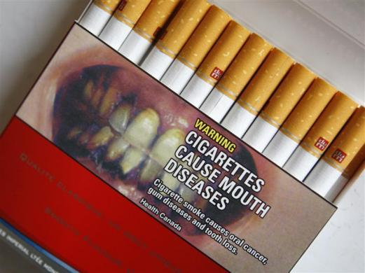 A pack of cigarettes in Canada.