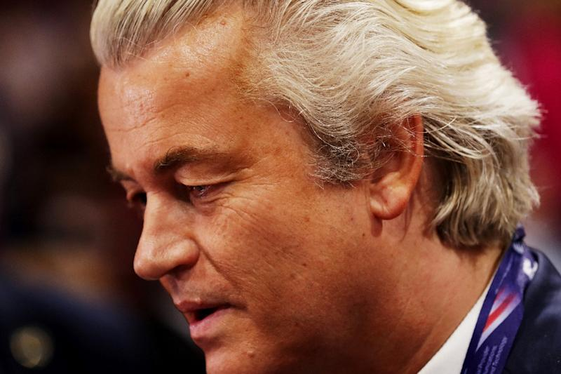 """Geert Wilders, leader of the Dutch Party for Freedom, vows to """"close mosques, Islamic schools and ban the Koran"""" if elected (AFP Photo/Chip Somodevilla)"""