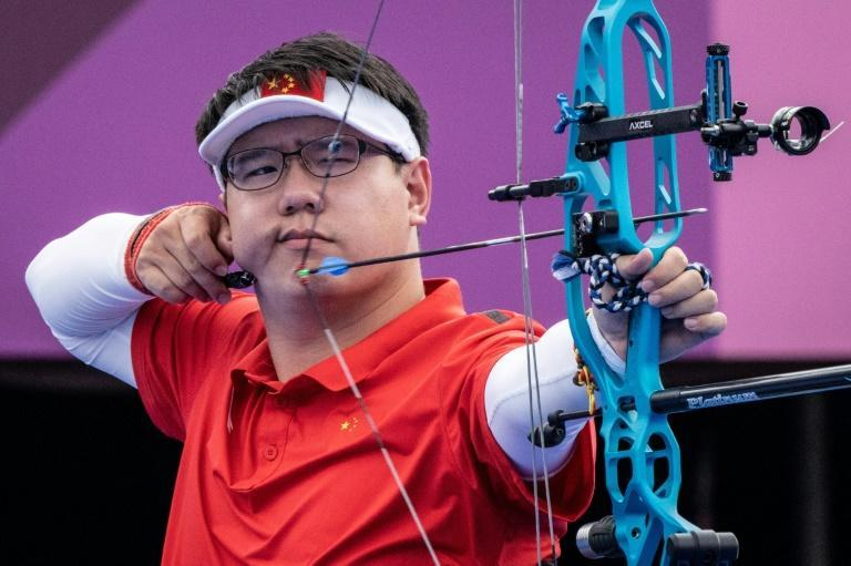 China's He Zihao set a Paralympics record in winning compound open archery gold on Tuesday (AFP/Yasuyoshi CHIBA)