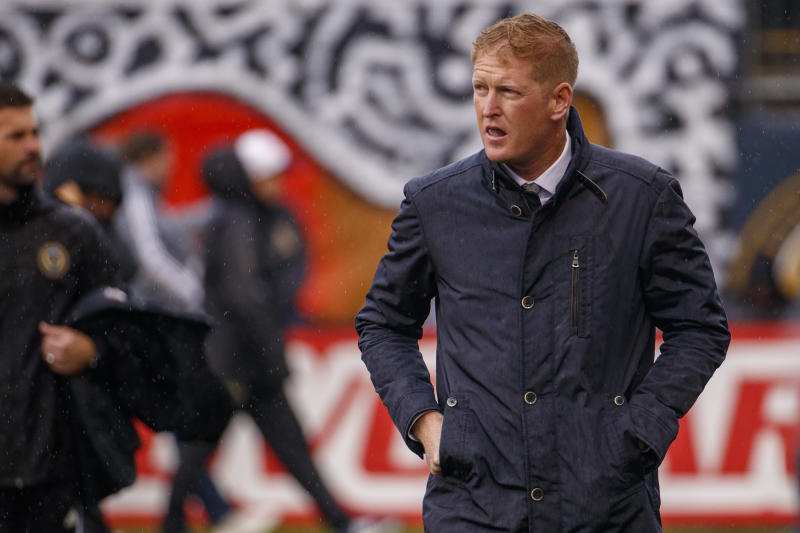 Jim Curtin and the Philadelphia Union could be a dark horse to win the MLS is Back Tournament. (AP Photo/Chris Szagola)