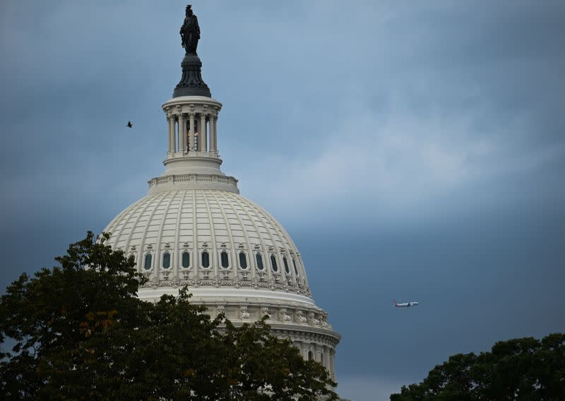 The U.S. Capitol building dome is seen in Washington