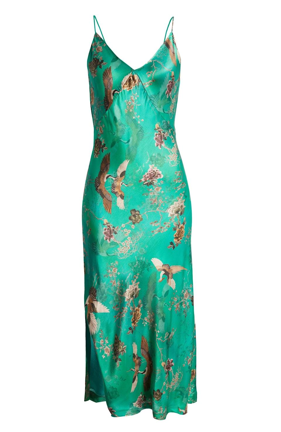 <p>This <span>AllSaints Melody Amare Print Midi Slipdress</span> ($259) will move beautifully with every step, thanks to its figure-sculpting silhouette and eye-catching print.</p>