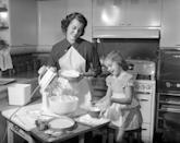 """<p>One of my treasured heirlooms is my Gram's vintage <a href=""""https://www.amazon.com/Good-Housekeeping-Cookbook-Institute/dp/0878510141?tag=syn-yahoo-20&ascsubtag=%5Bartid%7C2141.g.25096738%5Bsrc%7Cyahoo-us"""" rel=""""nofollow noopener"""" target=""""_blank"""" data-ylk=""""slk:Good Housekeeping cookbook"""" class=""""link rapid-noclick-resp""""><em>Good Housekeeping </em>cookbook</a>. Its tattered and stained pages include a """"Wartime Supplement"""" that describes how to cope with WWII food rationing, especially staples such as sugar and meat. The cookbook's money-saving tips are still surprisingly relevant. While our grandparents may have been frugal from necessity, there's a lot we can learn from their thriftiness on many different fronts. Here's how to """"waste not, want not"""" and save money like our grandparents did.</p>"""