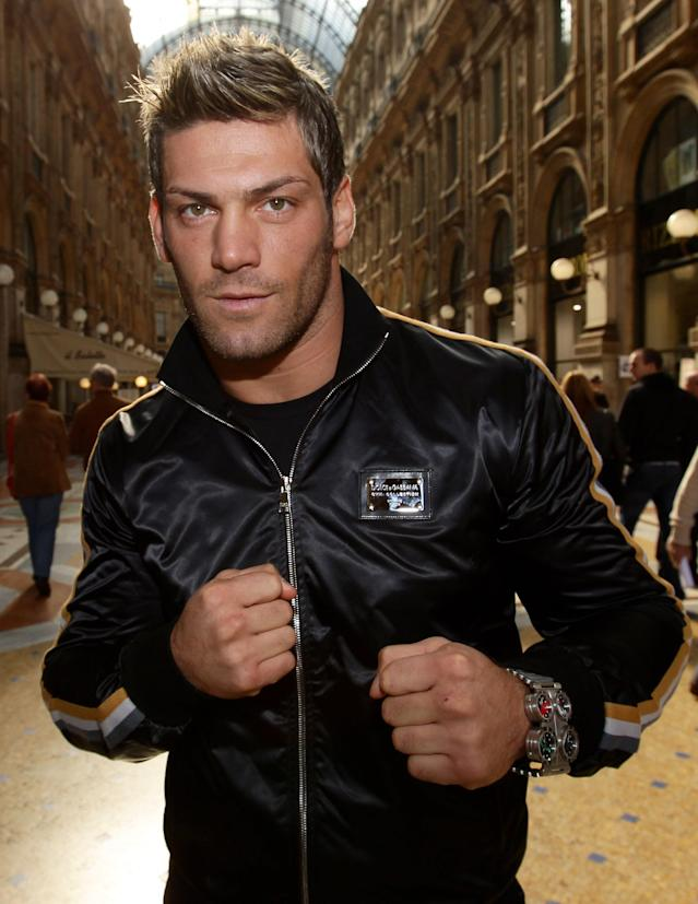 MILAN, ITALY - OCTOBER 18: Clemente Russo of the Thunder Milano Boxing Team poses in Galleria Vittorio Emanuele on October 18, 2010 in Milan, Italy. (Photo by Vittorio Zunino Celotto/Getty Images)