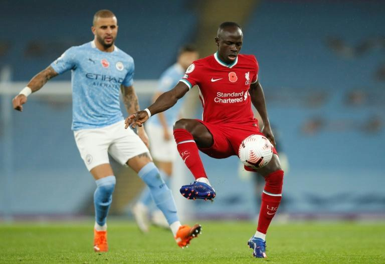 Liverpool forward Sadio Mane (R) starred for Senegal in a routine Africa Cup of Nations win over Guinea-Bissau Wednesday