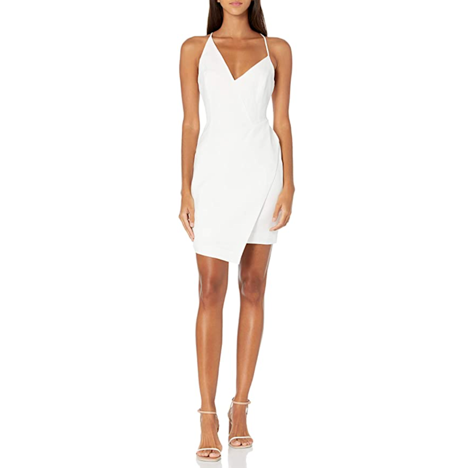 "<p><strong>BCBGMAXAZRIA</strong></p><p>amazon.com</p><p><strong>$187.99</strong></p><p><a href=""https://www.amazon.com/dp/B0853XT9BP?tag=syn-yahoo-20&ascsubtag=%5Bartid%7C2089.g.35997394%5Bsrc%7Cyahoo-us"" rel=""nofollow noopener"" target=""_blank"" data-ylk=""slk:Shop Now"" class=""link rapid-noclick-resp"">Shop Now</a></p><p>For other special events this summer, you might want something a little lighter (just don't wear the white one as a wedding guest, agreed?) and this asymmetrical BCBGMAXAZRIA dress is <em>the one. </em></p>"