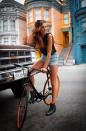 """<div class=""""caption-credit""""> Photo by: bikepretty.com</div>Do you think they painted the house the match her rims?"""