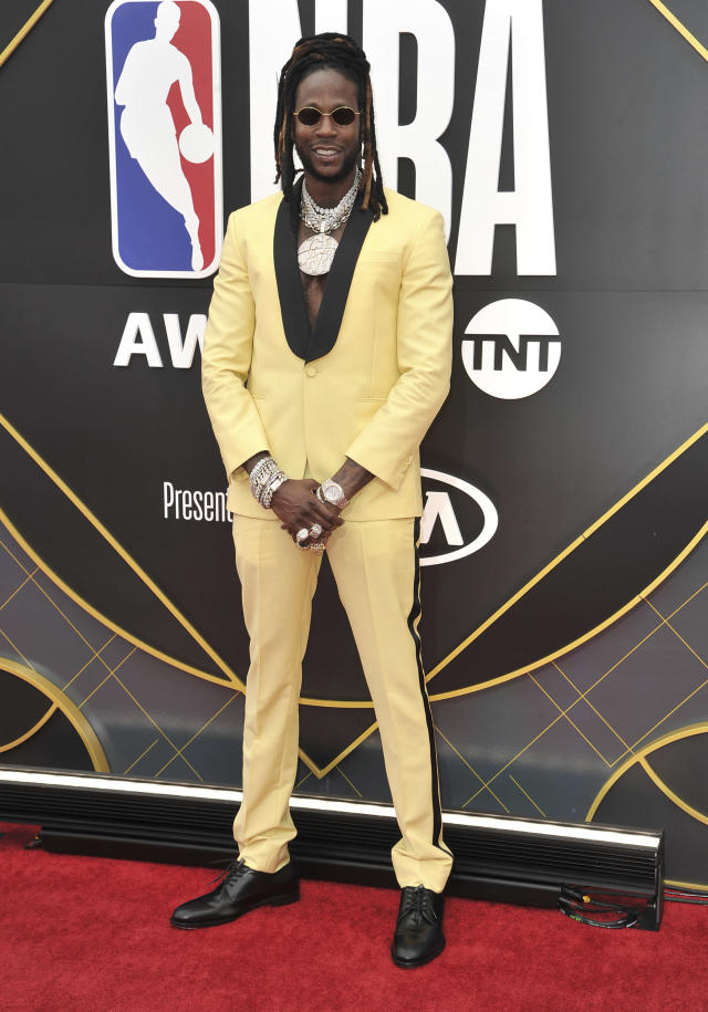 2 Chainz arrives at the NBA Awards on Monday, June 24, 2019, at the Barker Hangar in Santa Monica, Calif. (Photo by Richard Shotwell/Invision/AP)