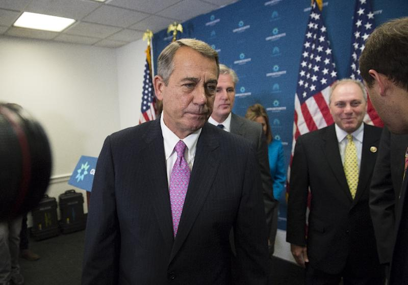 In the never-ending political scheming that dominates the US capital, Republicans' immediate difficulty is finding someone who can adeptly wield the speaker's gavel upon the departure of outgoing Speaker John Boehner (L) (AFP Photo/Saul Loeb)