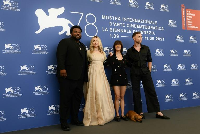 The film also features US comedian Craig Robinson and British actor Ed Skrein. (AFP/Filippo MONTEFORTE)