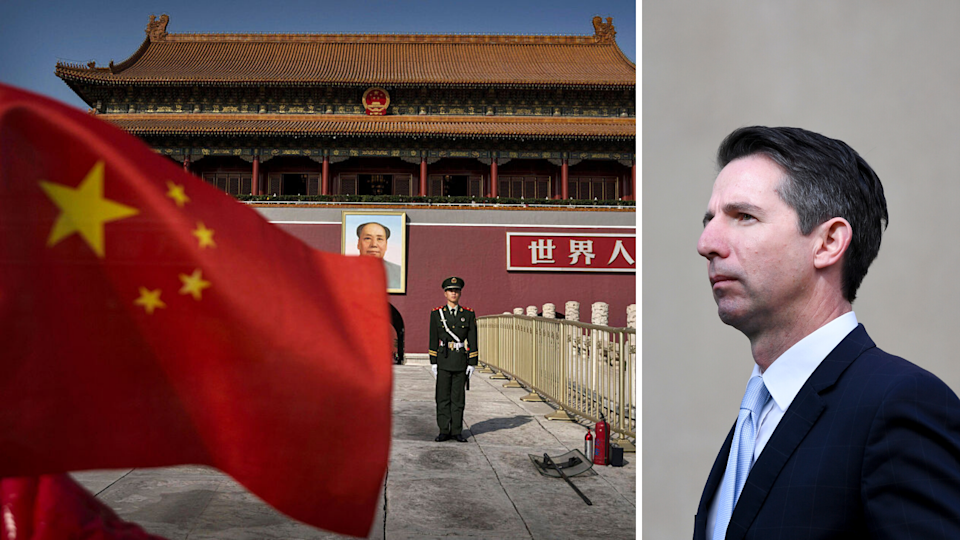 Source: China has told its citizens not to travel to Australia over increased racist attacks, a claim that has been dismissed by Trade and Tourism Minister Simon Birmingham (right). (Source: Getty, AAP)