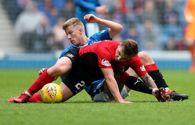 Soccer Football - Scottish Premiership - Rangers vs Kilmarnock - Ibrox, Glasgow, Britain - May 5, 2018 Kilmarnock's Eamonn Brophy in action REUTERS/Scott Heppell