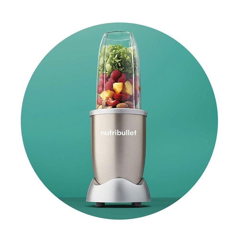 """<p><strong>NutriBullet</strong></p><p>amazon.com</p><p><strong>$89.00</strong></p><p><a href=""""https://www.amazon.com/dp/B0163K1Z3G?tag=syn-yahoo-20&ascsubtag=%5Bartid%7C2089.g.34449251%5Bsrc%7Cyahoo-us"""" rel=""""nofollow noopener"""" target=""""_blank"""" data-ylk=""""slk:Shop Now"""" class=""""link rapid-noclick-resp"""">Shop Now</a></p><p>We love the NutriBullet Pro Blender because it is a straightforward yet incredibly reliable and compact <a href=""""https://www.bestproducts.com/appliances/small/a14329736/reviews-powerful-blenders-and-mixers/"""" rel=""""nofollow noopener"""" target=""""_blank"""" data-ylk=""""slk:personal smoothie blender"""" class=""""link rapid-noclick-resp"""">personal smoothie blender</a> that can also double as a food processor.</p>"""