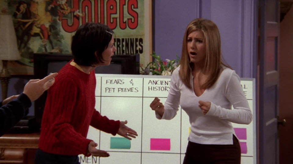 <p> Friends&#x2019; best episode is also its most misleadingly titled. While the story of Phoebe&#x2019;s embryo implantation on behalf of brother Frank delivers both laughs and a feel-good ending, it&#x2019;s the quiz where the remaining quintet test how well they know each other &#x2013; with Chandler and Joey ultimately winning Monica&#x2019;s apartment &#x2013; which steals the show, and series. &#x201C;Miss Chanandler Bong!&#x201D;; &#x201C;He&#x2019;s a trans&#x2026; trans&#x2026; transpondster!&#x201D;; &#x201C;His legs flail about as if independent from his body!&#x201D;; &#x201C;I can&#x2019;t believe we live here!&#x201D;: With more quotable lines in one half-hour than some series manage in an entire run, season 4, episode 12 marks Friends&#x2019; pinnacle. You might even call it the Friennacle. Except, of course, &#x201C;That&#x2019;s not even a word!&#x201D;. </p> <p> <strong>Best line:</strong>&#xA0;Ross: What is Chandler Bing&#x2019;s job? [Silence] </p>