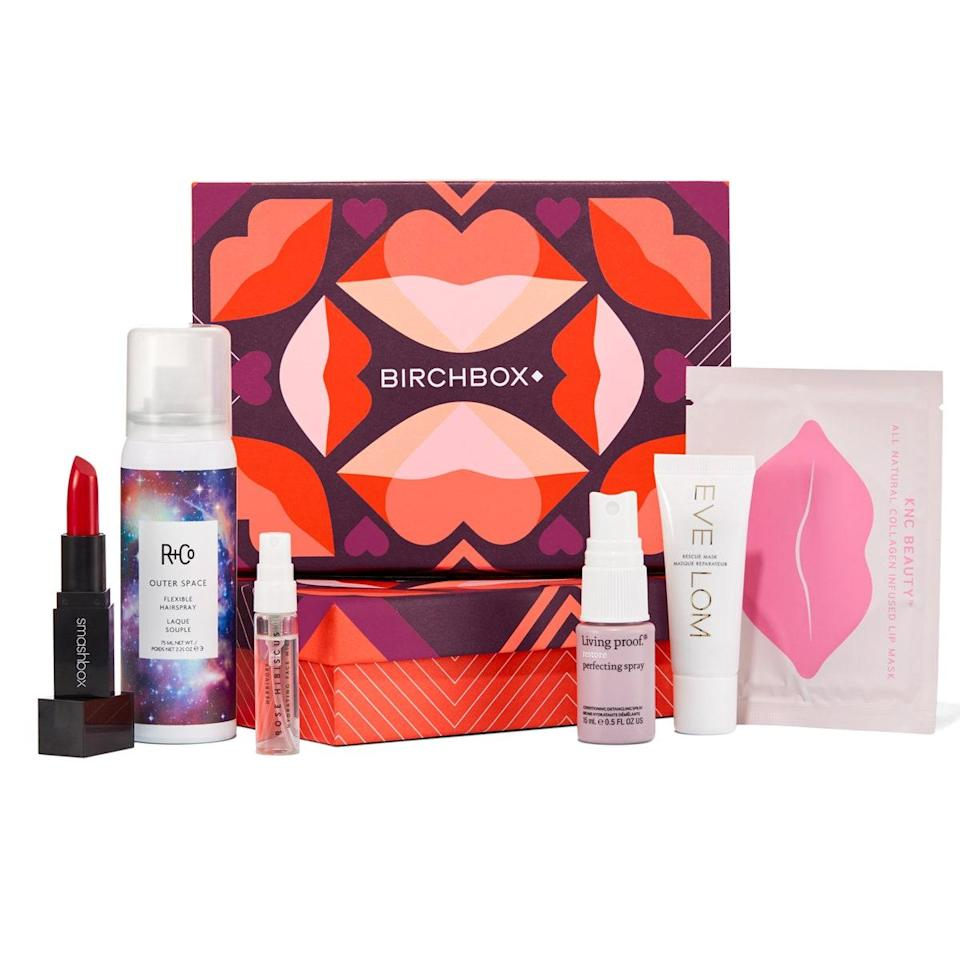 """<a href=""""https://www.glamour.com/gallery/best-beauty-products-birchbox?mbid=synd_yahoo_rss"""" rel=""""nofollow noopener"""" target=""""_blank"""" data-ylk=""""slk:Birchbox"""" class=""""link rapid-noclick-resp"""">Birchbox</a> may be one of the most well-known monthly beauty subscription boxes out there, but if there's any service in the country that makes this particular category feel fresh and exciting, it's them. Aside from its incredible assortment of brands (Oribe, Amika, Kiehl's, Tata Harper, Benefit Cosmetics—and more), Birchbox stands out because you can tailor the contents to your skin needs and preferences, which is especially helpful now that most of us are laying off the foundation and going hard on the <a href=""""https://www.glamour.com/gallery/best-face-masks?mbid=synd_yahoo_rss"""" rel=""""nofollow noopener"""" target=""""_blank"""" data-ylk=""""slk:face masks"""" class=""""link rapid-noclick-resp"""">face masks</a> instead. $15, Birchbox. <a href=""""https://www.birchbox.com/"""" rel=""""nofollow noopener"""" target=""""_blank"""" data-ylk=""""slk:Get it now!"""" class=""""link rapid-noclick-resp"""">Get it now!</a>"""