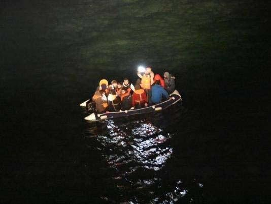 14 people, including two children, were rescued by French authorities after a emergency helicopter search: Maritime Prefect of the English Channel/PA Wire