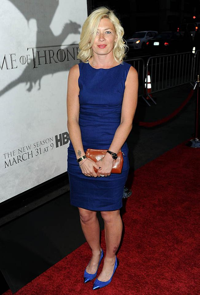 "Kate Ashfield arrives at the premiere of HBO's ""Game of Thrones"" Season 3 at TCL Chinese Theatre on March 18, 2013 in Hollywood, California."