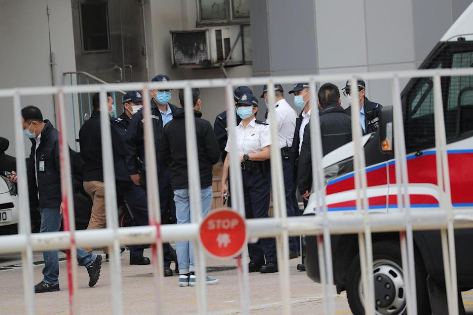 The eight being released from jail in Shenzhen are expected to be taken to Tin Shui Wai Police Station. Photo: Sam Tsang