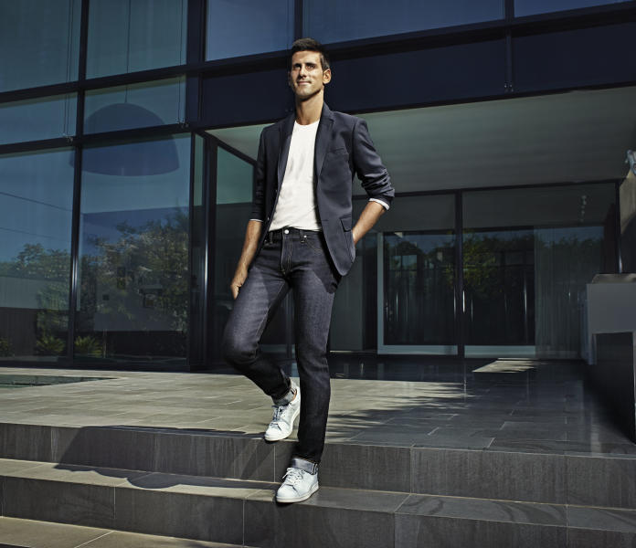 Novak Djokovic traded his tennis gear for Uniqlo jeans in a recent campaign.