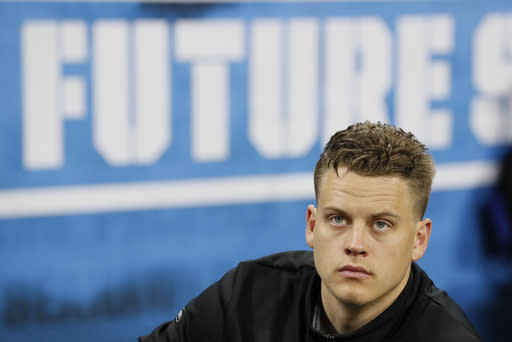 No. 1 pick Joe Burrow happy to be on field for Bengals