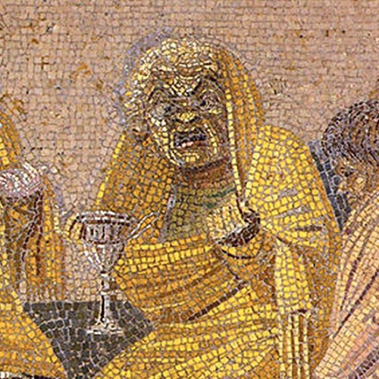 """<span class=""""caption"""">Eye of newt: detail from Pompeii showing the witch in close up.</span>"""