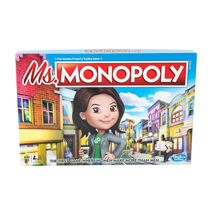 Ms. Monopoly gives women an advantage at the start of the game.