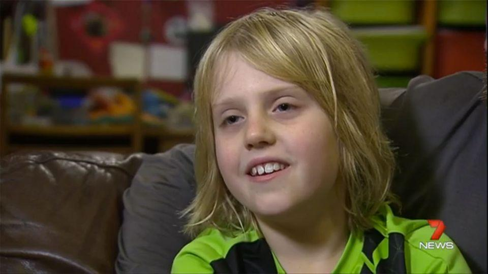 The brave seven-year-old went into the station's control room and waited until his family came back. Photo: 7 News