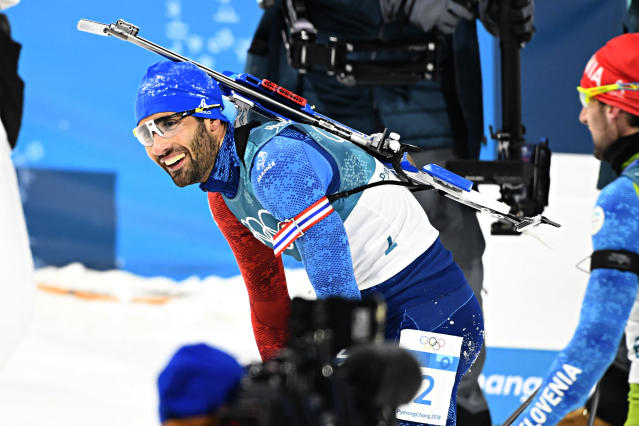<p>Martin Fourcade of France wins the gold medal during the Biathlon Men's 15km Mass Start on February 18, 2018 in PyeongChang, South Korea.<br> (Photo by Alain Grosclaude/Agence Zoom/Getty Images) </p>
