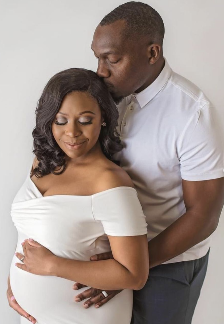 She was due to give birth to her daughter in Indianapolis on November 20, but the couple were told a month earlier that she was showing signs of preeclampsia. Source: Facebook