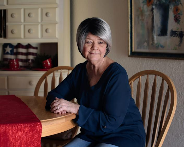Cathy Ayers in her home in Harlingen, TX on Dec. 6, 2019. | Bryan Schutmaat for TIME