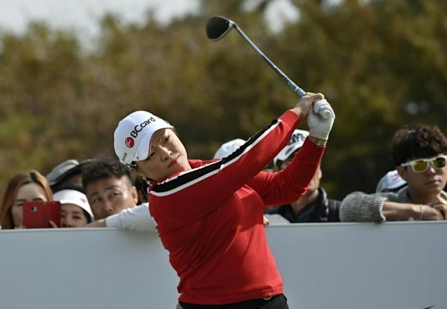 Jang Ha-na has claimed her first LPGA title since leaving the US tour to play in domestic competition (AFP Photo/Jung Yeon-je)