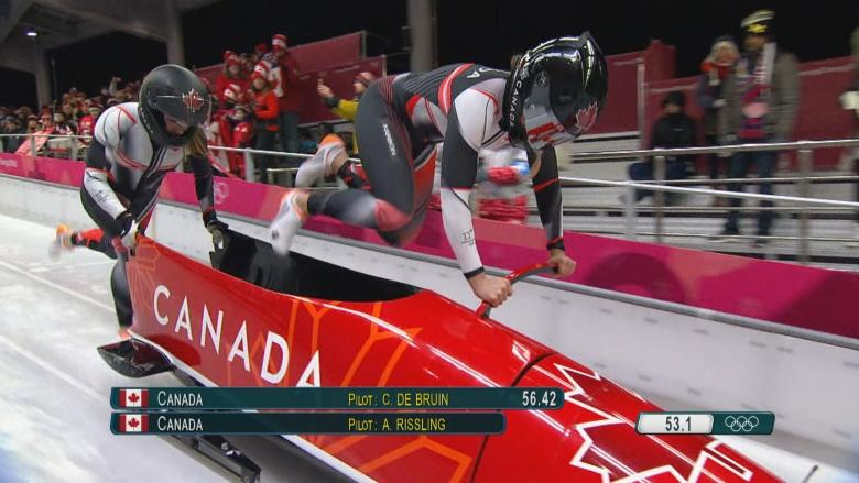 Olympic hurdler Phylicia George wins bobsleigh bronze in Pyeongchang