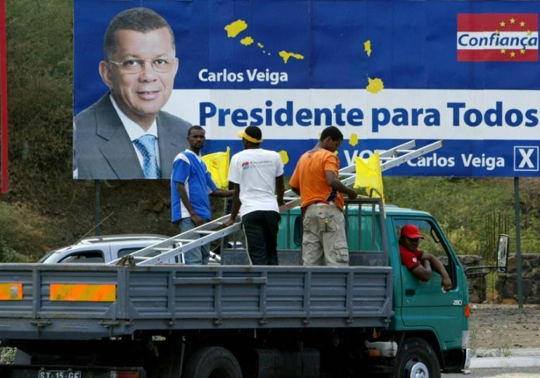 Centre-right candidate Carlos Veiga has long-running presidential ambitions -- he ran for the top job in 2006 (AFP/SEYLLOU DIALLO)