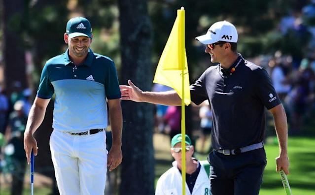 "<a class=""link rapid-noclick-resp"" href=""/pga/players/1040/"" data-ylk=""slk:Sergio Garcia"">Sergio Garcia</a> and Justin Rose in the final round of the 2017 Masters. (Getty)"