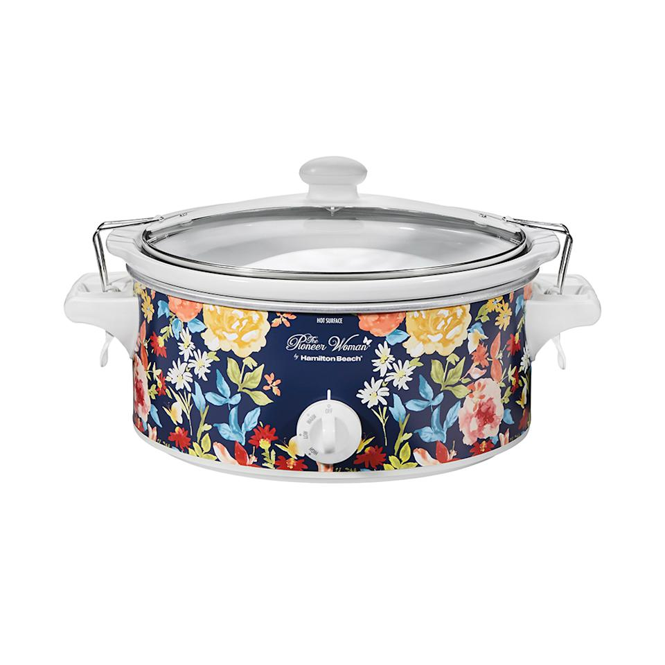 """<p>Whether it's a 6-pound chicken or a 4-pound roast, this floral-painted 6-quart slow cooker can handle it. Plus, it will look so pretty sitting in your kitchen. <br /><strong><a rel=""""nofollow"""" href=""""https://fave.co/2Qnfn7U"""">SHOP IT</a>:</strong> $26, <a rel=""""nofollow"""" href=""""https://fave.co/2Qnfn7U"""">walmart.com</a> </p>"""