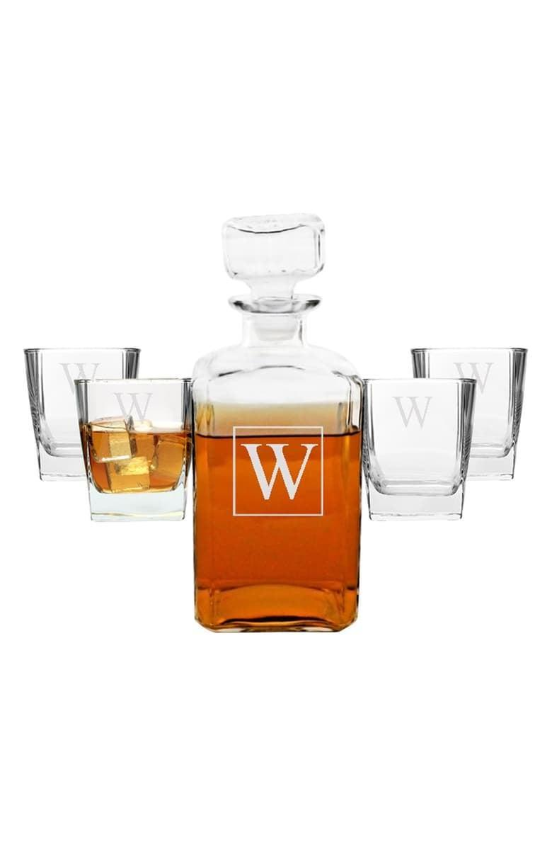 <p>Upgrade their collection with this <span>Cathy's Concepts Monogram Five-Piece Decanter Set</span> ($48, originally $102).</p>